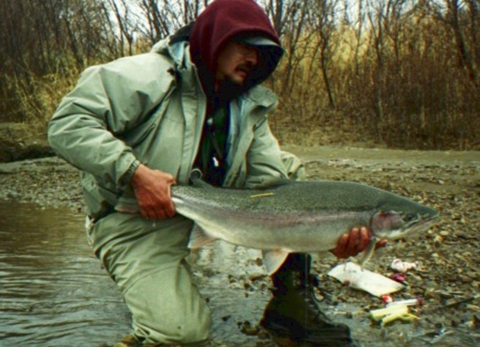 Ed Ward with a slightly colored steelhead