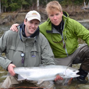 Nils and Morten with female steelhead